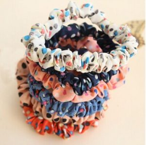 76054-Candy-fabric-hair-accessories-hair-wave-point-circle-hair-rope-head-Shengpi-tendons