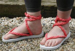 Flip flops con trenzas de trapillo