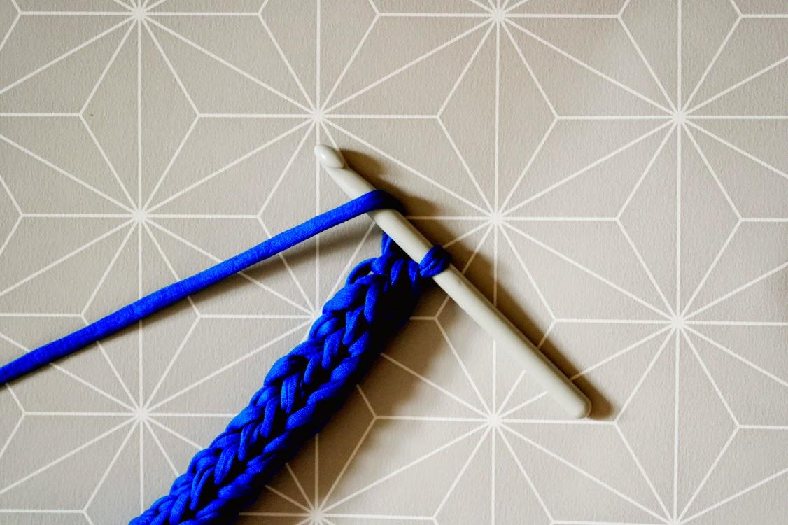 C mo tejer una cuerda con trapillo el blog de - Tejer con trapillo ...
