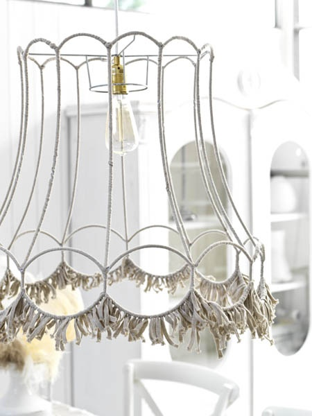 Decorar una lámpara con trapillo fácilmente