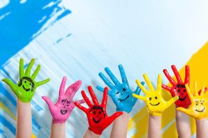 Pintura sobre tela para niños