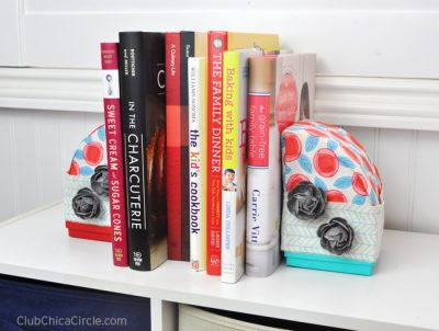 Accesorios de tela para organizar libros
