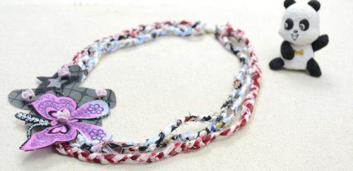 Collar multicolor de tela