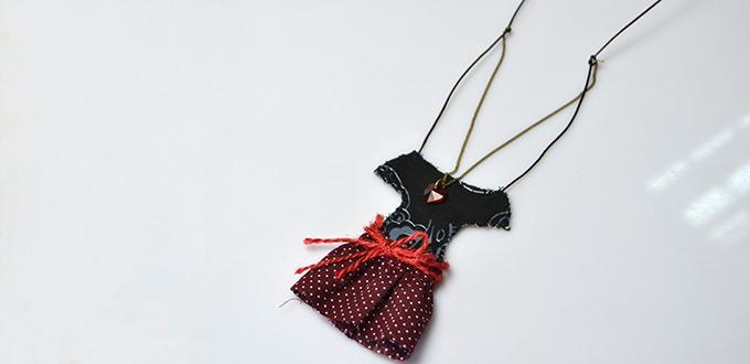 4 modelos de collar de tela para niñas