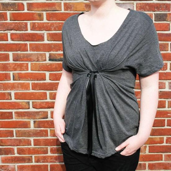 Convierte una camiseta vieja en un top de maternidad