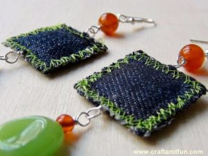 Repurposed-Denim-Earrings