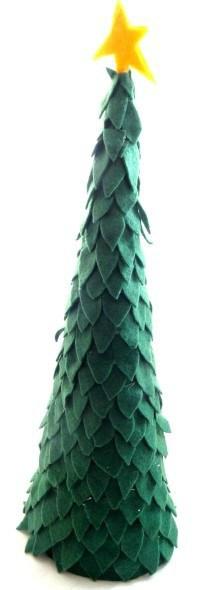Árbol navideño de fieltro