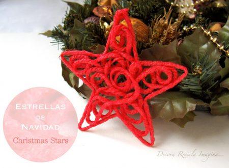 Estrellas de navidad con lana
