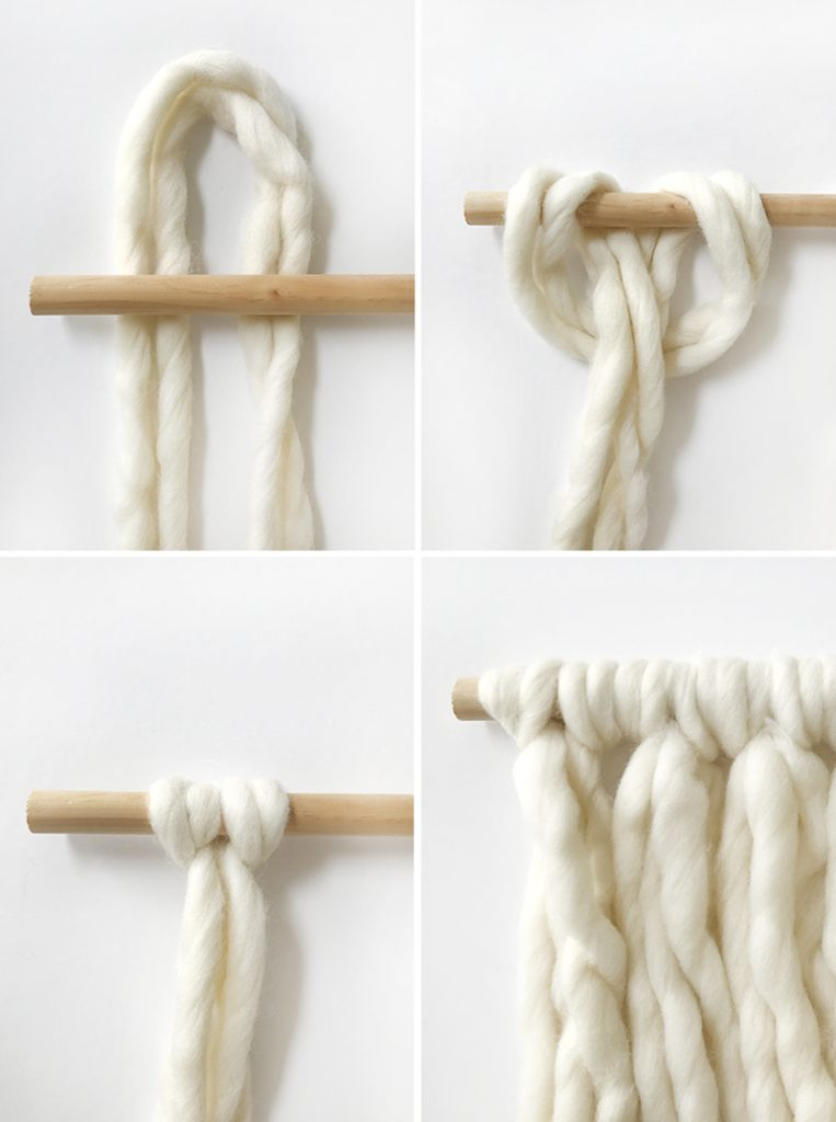 Wrapped-wool-wall-hanging-step1