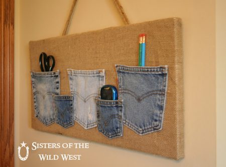 Organizador con bolsillos de jean