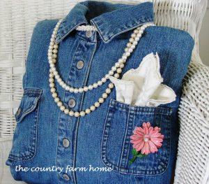 Cojín chic con jeans reciclados
