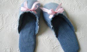 Slippers de jeans