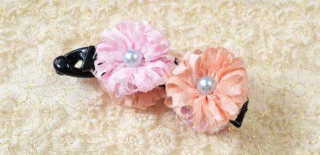 Flores de cinta (+ accesorio para el cabello)