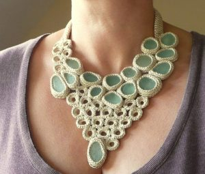 sea-glass-crochet-necklace