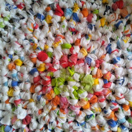 Tutorial de alfombra redonda de trapillo