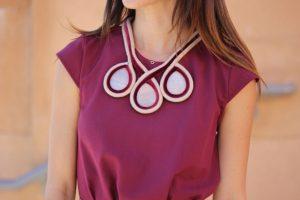 Collar de tela y piedras (inspirado en Dior)